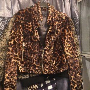 Silk leopard blazer type